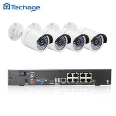 Techage 8CH 1080P 48V POE Network NVR Record CCTV System Set 4PCS 2MP 3000TVL IP Camera Night Vision Outdoor Video Security Kit #men, #hats, #watches, #belts, #fashion