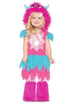 Toddler Sweetheart Pink Monster Halloween Costume