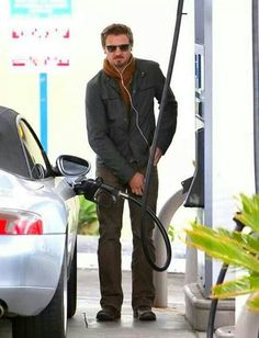Wonder if I could get him to pump my gas ;)