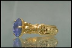 14th century Ring, gold and stone. Lindesberg, Sweden
