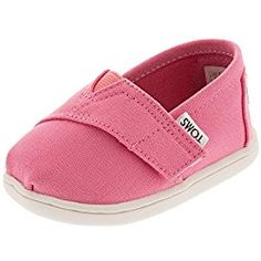 Toms Baby Girls ALPARGATA slip on shoes/flat, Pink, 2 M US Toddler