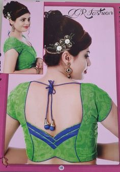 We are here with selected Back Neck Blouse Designs Patterns for modern look and glamourous style. Patch Work Blouse Designs, Pattu Saree Blouse Designs, Simple Blouse Designs, Stylish Blouse Design, Fancy Blouse Designs, Dress Neck Designs, Indian Blouse Designs, Blouse Designs Catalogue, Designer Blouse Patterns