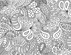 Linhas curvas de zentangle                                                                                                                                                                                 Mais