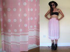 Vintage 80's pink polka dot pleated silk lolita by RebelCloset