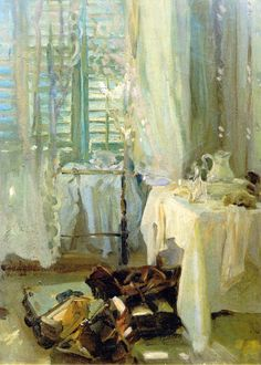 ◇ Artful Interiors ◇ paintings of beautiful rooms - John Singer Sargent | The Hotel Room