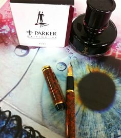 Waterman Le Man 200 brown ripple and Parker Penmanship Ruby