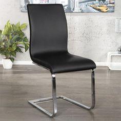 Krzesło na płozach Hilton czarne