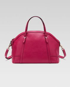 Gucci Nice Dome Satchel Bag, Pink by Gucci at Neiman Marcus.