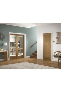 Internal Door Pair Oak Suffolk with Clear Etched Glass Untreated Room Divider Doors, Room Divider Bookcase, Diy Room Divider, Room Divider Headboard, Wooden Room Dividers, Portable Room Dividers, Living Room Divider, Folding Room Dividers, Divider Cabinet