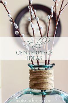 fall decor ideas: gorgeous neutral fall centerpieces at maisondepax.com