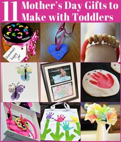 11 Mothers Day Gifts to Make With Toddlers - featured on Childhood 101