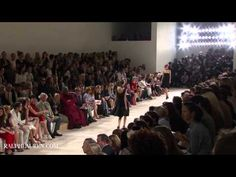 Ralph Lauren S/S 2013 - You have to watch the runway show because he designs clothes for the way women move. (Check out the swingy bottom of the white dress at 6:10)