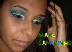 Make in Cup 2014: Make Canarinho (delineado duplo) | Jess