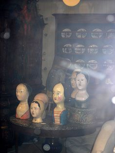Antique Mannequin Heads