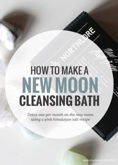 Harness the new moon energy with a quiet cleansing bath ritual. Learn how to make your own, or snag a New Moon Bath Brew here | Rogue Wood Supply