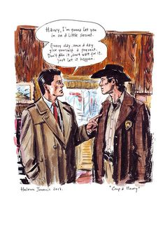 Helena Janecic Twin Peaks illustration Harry and Coop Digital prints Free