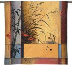 53x53 BAMBOO Floral Contemporary Tapestry Wall Hanging $169.95