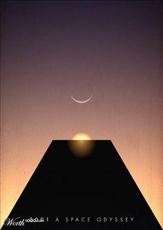 2001: A Space Odyssey (1968) ~ Minimal Movie Poster by Upfunkt #amusementphile
