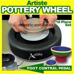 As Seen On TV Artiste Pottery Wheel Set 18 Pcs
