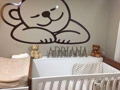 Una #habitacióninfantil preciosa!! Decorada con nuestras letras de madera: A la venta en: http://www.cestaland.com/-letras-de-madera/221-palabra-o-nombre-completo-pintado-letras-de-madera.html