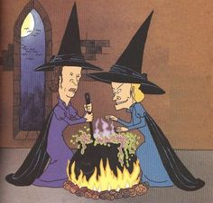 Beavis and Butthead as witches