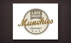Late Night Munchies by Food Logo Design, Fashion Logo Design, Logo Food, Late Night Munchies, Great Logos, Retro Logos, Logo Restaurant, Creative Logo, Logo Design Inspiration