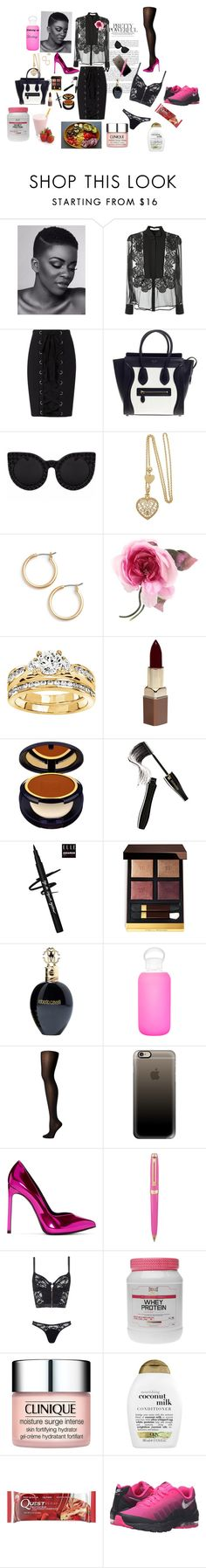 """""""The new power suit"""" by sungoddess589 ❤ liked on Polyvore featuring Givenchy, Exclusive for Intermix, CÉLINE, Nordstrom, Gucci, Modern Bride, Fashion Fair, Estée Lauder, Lancôme and Tom Ford"""