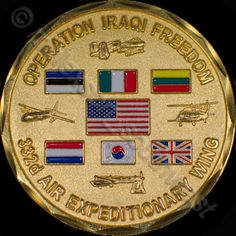 Challenge Coin Operation Iraqi Freedom 332d Air Expeditionary Wing Tallil AB #ChallengeCoin #OperationIraqiFreedom #332dAirExpeditionaryWing #Tallil