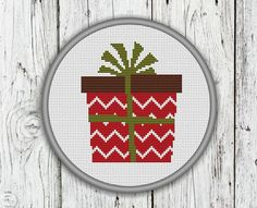 Christmas Present Box Counted Cross Stitch by CrossStitchShop