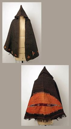 Africa | Coat ~ burnus ~ from the Berber people of Morocco | Wool and cotton | ca. 1900 - 1975