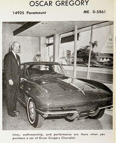This unique car is my dream vehicle. So trendy 63 Corvette Stingray, Old Corvette, Chevrolet Corvette, Chevy, Chevrolet Dealership, Car Advertising, Unique Cars, Car Photos, Vintage Ads