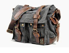 Cool Messenger Bag (6) Cool Messenger Bags, Canvas Messenger Bag, Canvas Material, Canvas Size, Backpacks, Shoulder Bag, Cool Stuff, Leather, Men