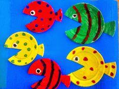Προσχολική Παρεούλα : Καλοκαιρινές κατασκευές της Προσχολικής Παρεούλας !!! Toddler Fun, Toddler Crafts, Preschool Crafts, Easy Crafts, Diy And Crafts, Crafts For Kids, Arts And Crafts, Paper Crafts Origami, Paper Plate Crafts