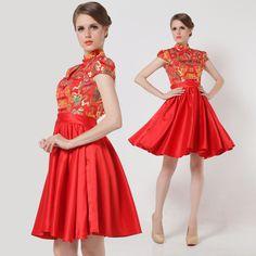 short Cheongsam Dress