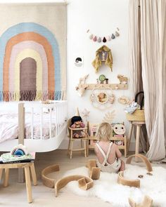 All the colours of the rainbow 🌈 Our Oyoy restock is due any day now and it includes the wonderful Over The Rainbow Wall Rug! We simply… Baby Boy Rooms, Little Girl Rooms, Baby Room, Inspiration For Kids, Nursery Inspiration, Nursery Room, Nursery Decor, Creative Kids Rooms, Best Interior Design Websites