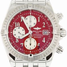 Breitling Chronomat 44 Evolution Stainless Steel with Red Numeral Dial A13356 | eBay