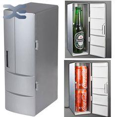 Plug & Play Xách Tay Thực Hành Mini USB Tủ Lạnh Office Desktop PC Xe Tủ Lạnh Tủ Đông Đồ Uống Có Thể Uống Cooler Silver