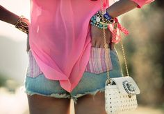 lovee the seethrough shirt and pink pockets