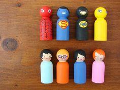 Hand Painted Peg Figurines