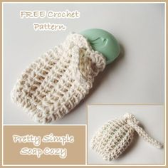 Pretty Simple Soap Cozy ~ FREE Crochet Pattern