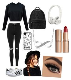 """""""Random #045"""" by molliethompsonn on Polyvore featuring Topshop, adidas Originals, Beats by Dr. Dre, ASOS and Charlotte Tilbury"""