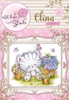 Wild Rose Studio Clear Stamp Sheet 2.5 by 3-Inch Bunny and Bee