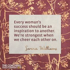 4 Supportive Quotes for International Women's Day (Graphics) Serena Williams Quotes, International Womens Day Quotes, Individuality Quotes, Great Quotes, Inspirational Quotes, Graphic Quotes, Ladies Day, Woman Quotes, Believe In You