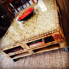 Hand made wine cork/pallet coffee table