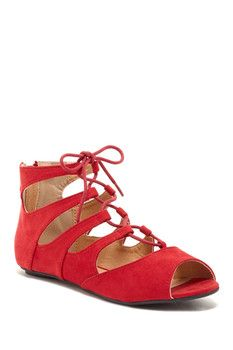 Carrini Larisa Lace-Up Flat  Sponsored by Nordstrom Rack.
