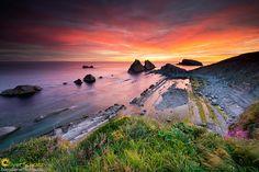 "Photograph ""La Arnia"" in sunrise by Oliver Schratz on 500px Playa de la Arnia"