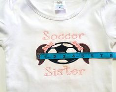 Soccer Sister Shirt - Soccer Fan - Little Sister - Soccer Sibling - Soccer Gift - Game Day Shirts - Girls Soccer Shirt - Proud Sister by fabuellaboutique. Explore more products on http://fabuellaboutique.etsy.com