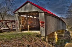 Humpback Covered Bridge. This is the only humpback covered bridge in Ohio and one of the few remaining in the world