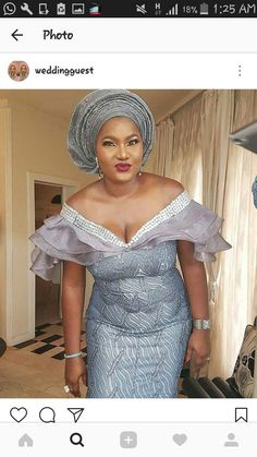 Look Chic in These Gorgeous Aso Ebi Gowns African Lace Styles, African Lace Dresses, African Fashion Dresses, Ankara Fashion, Ghana Fashion, Nigerian Fashion, Nigerian Lace, Africa Fashion, African Style