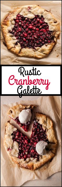 My rustic cranberry galette is a festive fall/winter/holiday dessert that will look beautiful on your table and delight your guests' tummies. healthy mom, busy mom, healthy recipes, health and fitness, healthy tips Winter Desserts, Holiday Desserts, Holiday Recipes, Winter Recipes, Christmas Recipes, Homemade Desserts, Köstliche Desserts, Delicious Desserts, Camping Desserts
